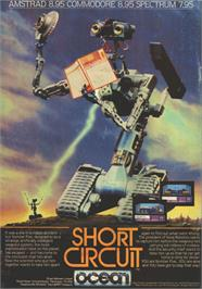 Advert for Short Circuit on the Sinclair ZX Spectrum.