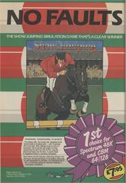 Advert for Show Jumping on the Sinclair ZX Spectrum.