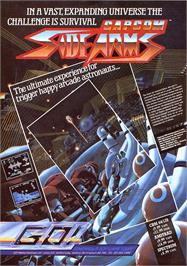 Advert for Side Arms Hyper Dyne on the Sinclair ZX Spectrum.