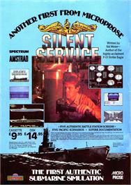 Advert for Silent Service on the Sinclair ZX Spectrum.