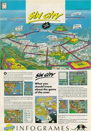Advert for SimCity on the Sinclair ZX Spectrum.