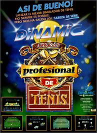Advert for Simulador Profesional de Tenis on the Sinclair ZX Spectrum.
