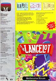 Advert for Sir Lancelot on the Commodore 64.