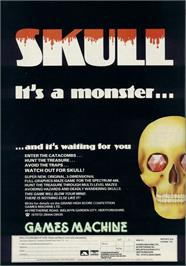 Advert for Skull on the Commodore 64.