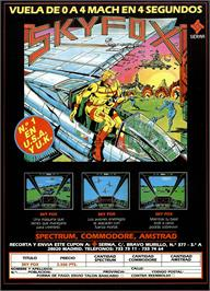 Advert for Skyfox on the Sinclair ZX Spectrum.
