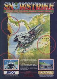 Advert for Snowstrike on the Sinclair ZX Spectrum.
