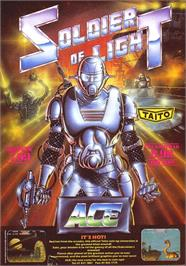 Advert for Soldier of Light on the Sinclair ZX Spectrum.