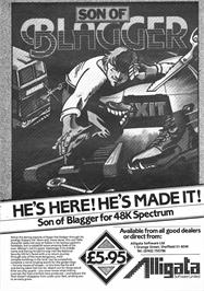 Advert for Son of Blagger on the Commodore 64.
