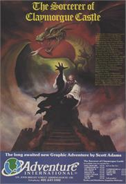 Advert for Sorcerer of Claymorgue Castle on the Sinclair ZX Spectrum.