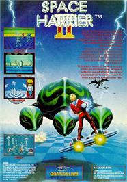 Advert for Space Harrier II on the Commodore 64.
