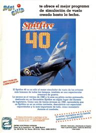 Advert for Spitfire '40 on the Sinclair ZX Spectrum.
