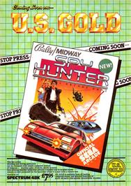 Advert for Spy Hunter on the Sinclair ZX Spectrum.