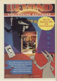 Advert for Spy vs. Spy: The Island Caper on the Sinclair ZX Spectrum.