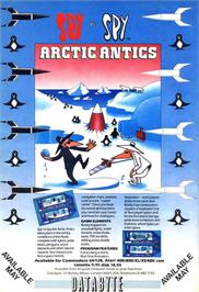 Advert for Spy vs. Spy III: Arctic Antics on the Atari 8-bit.