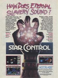 Advert for Star Control on the Sinclair ZX Spectrum.