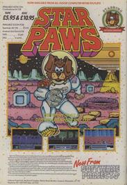 Advert for Star Paws on the Sinclair ZX Spectrum.