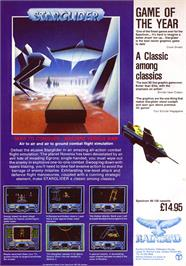 Advert for Starglider on the Sinclair ZX Spectrum.