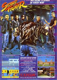 Advert for Street Fighter II on the Commodore 64.