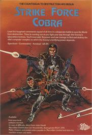 Advert for Strike Force Cobra on the Sinclair ZX Spectrum.