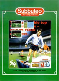 Advert for Subbuteo on the Commodore 64.