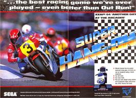 Advert for Super Hang-On on the Sinclair ZX Spectrum.