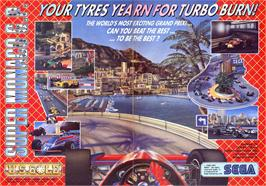 Advert for Super Monaco GP on the Sinclair ZX Spectrum.