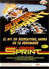 Advert for Super Sprint on the Sinclair ZX Spectrum.