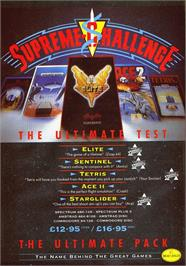 Advert for Supreme Challenge on the Sinclair ZX Spectrum.