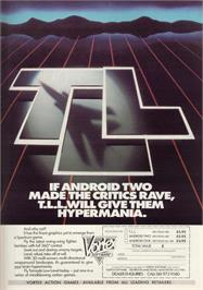 Advert for TLL: Tornado Low Level on the Sinclair ZX Spectrum.