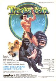 Advert for Tarzan on the Sinclair ZX Spectrum.