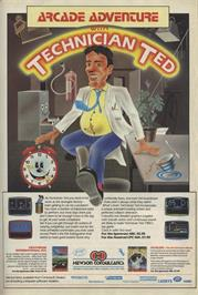 Advert for Technician Ted on the Amstrad CPC.