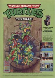 Advert for Teenage Mutant Ninja Turtles II: The Arcade Game on the Nintendo Arcade Systems.