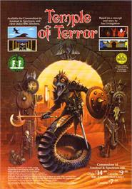 Advert for Temple of Terror on the Sinclair ZX Spectrum.
