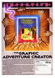 Advert for The Graphic Adventure Creator on the Sinclair ZX Spectrum.