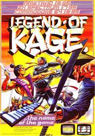 Advert for The Legend of Kage on the Sinclair ZX Spectrum.