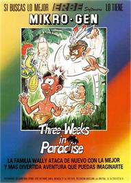 Advert for Three Weeks in Paradise on the Sinclair ZX Spectrum.