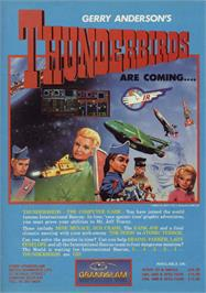 Advert for Thunderbirds on the Sinclair ZX Spectrum.