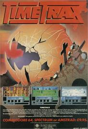 Advert for Time Trax on the Sinclair ZX Spectrum.