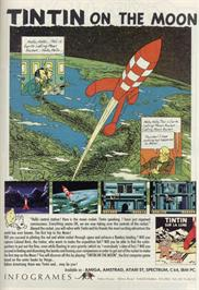 Advert for Tintin on the Moon on the Sinclair ZX Spectrum.