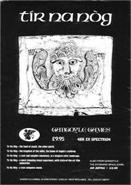 Advert for Tir Na Nog on the Sinclair ZX Spectrum.