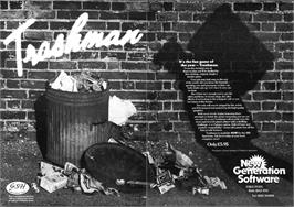 Advert for Trashman on the Sinclair ZX Spectrum.