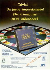 Advert for Trivial Pursuit on the Sinclair ZX Spectrum.