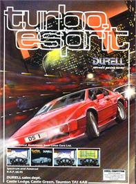 Advert for Turbo Esprit on the Sinclair ZX Spectrum.