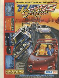 Advert for Turbo Outrun on the Sinclair ZX Spectrum.