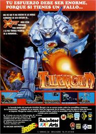 Advert for Turrican on the Sinclair ZX Spectrum.