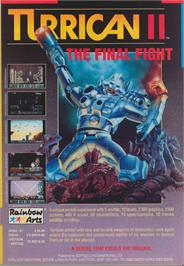 Advert for Turrican II: The Final Fight on the Commodore Amiga.