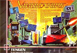 Advert for Vindicators on the Sinclair ZX Spectrum.