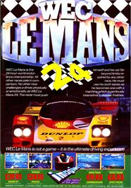 Advert for WEC Le Mans on the Sinclair ZX Spectrum.