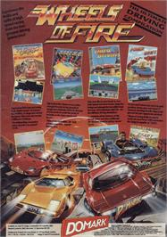 Advert for Wheels of Fire on the Sinclair ZX Spectrum.