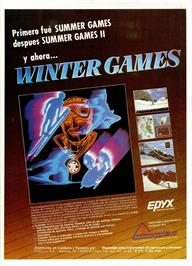 Advert for Winter Games on the Sinclair ZX Spectrum.